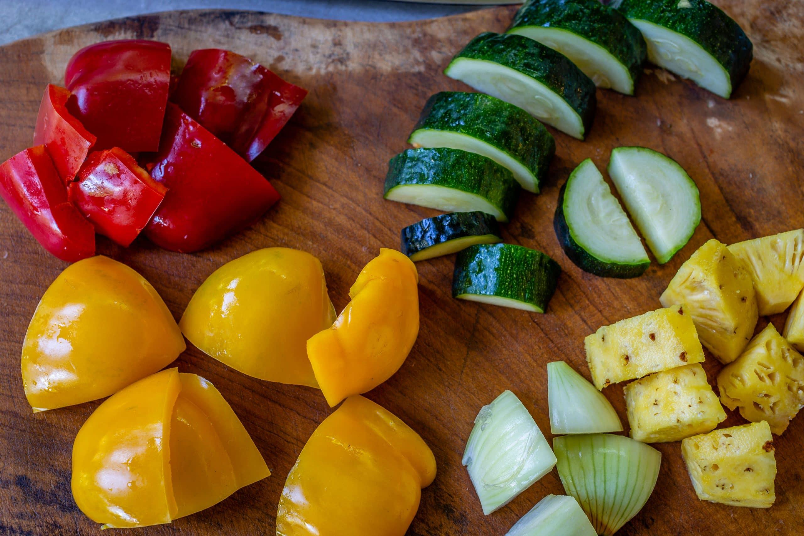 Grilled Vegetables on Skewers Ingredients