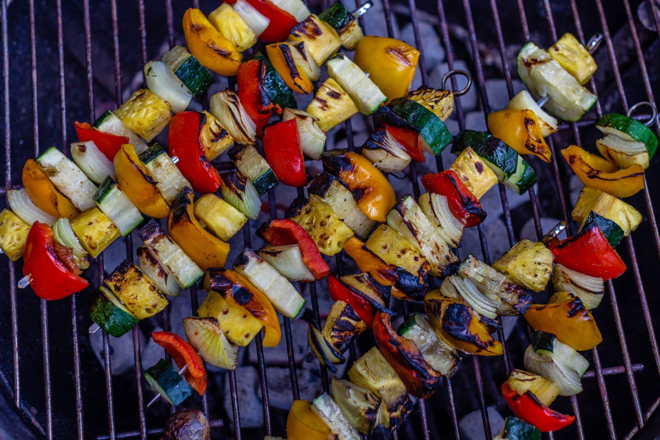Grilled Vegetables on Skewers
