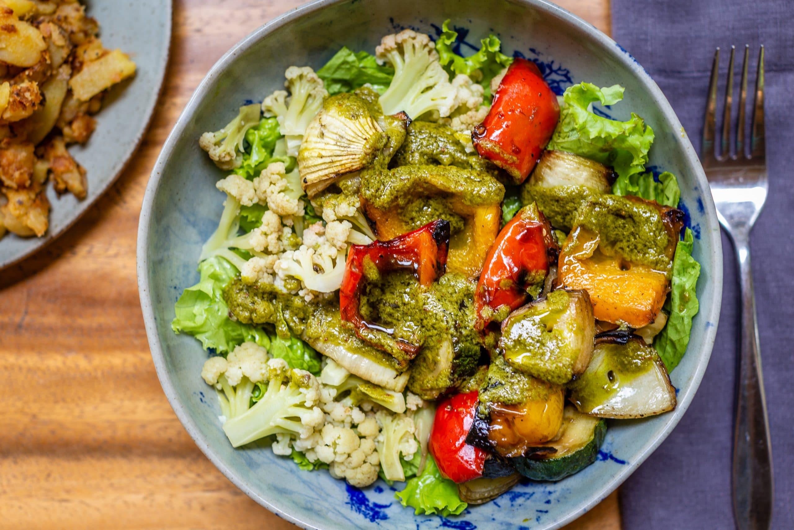 Chimichurri Sauce with Cilantro Salad