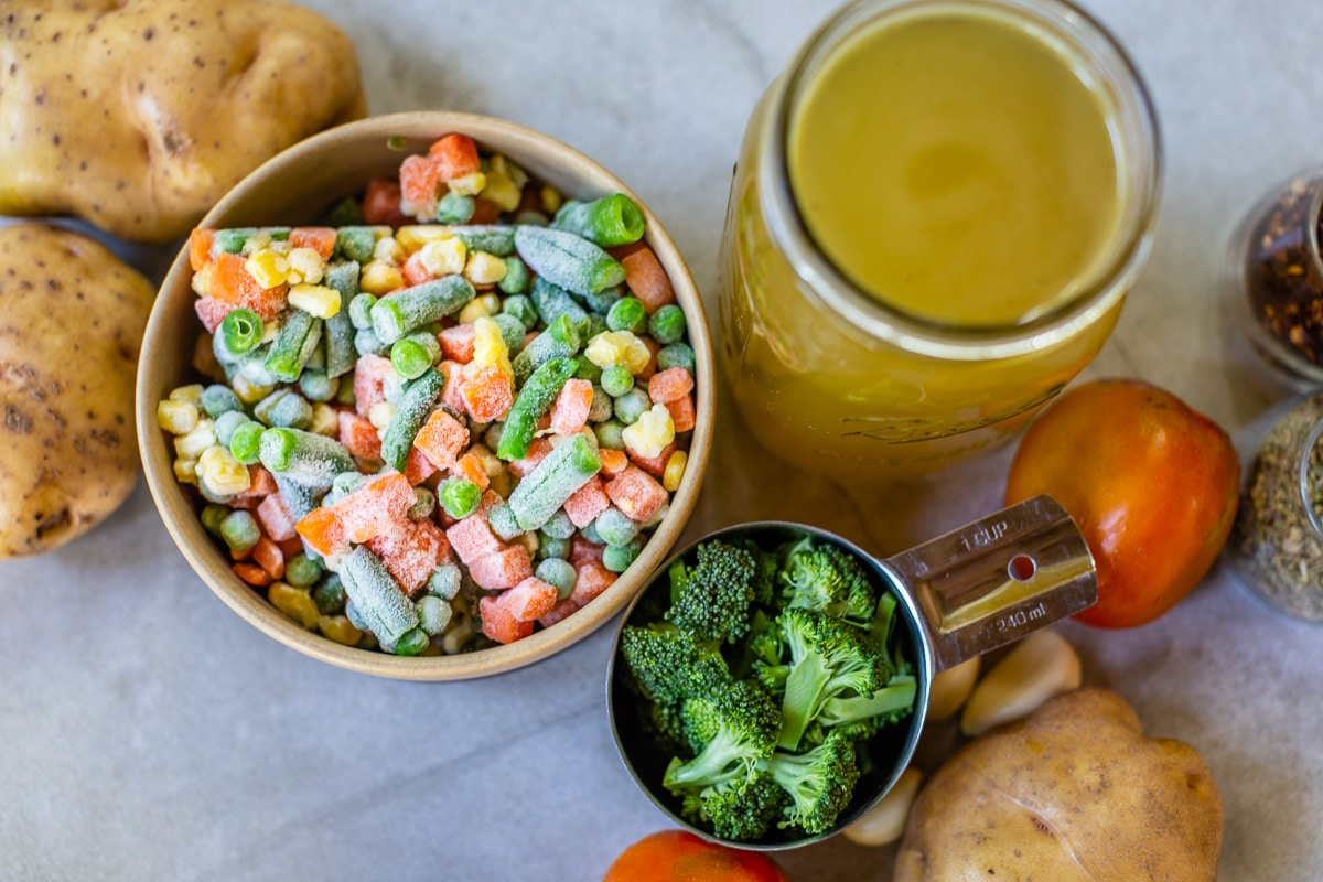 Vegetable Soup Recipe Ingredients