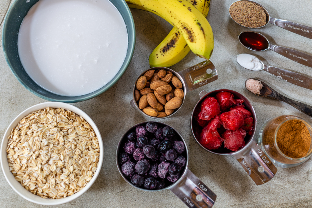 Recipe for Baked Oatmeal Ingredients