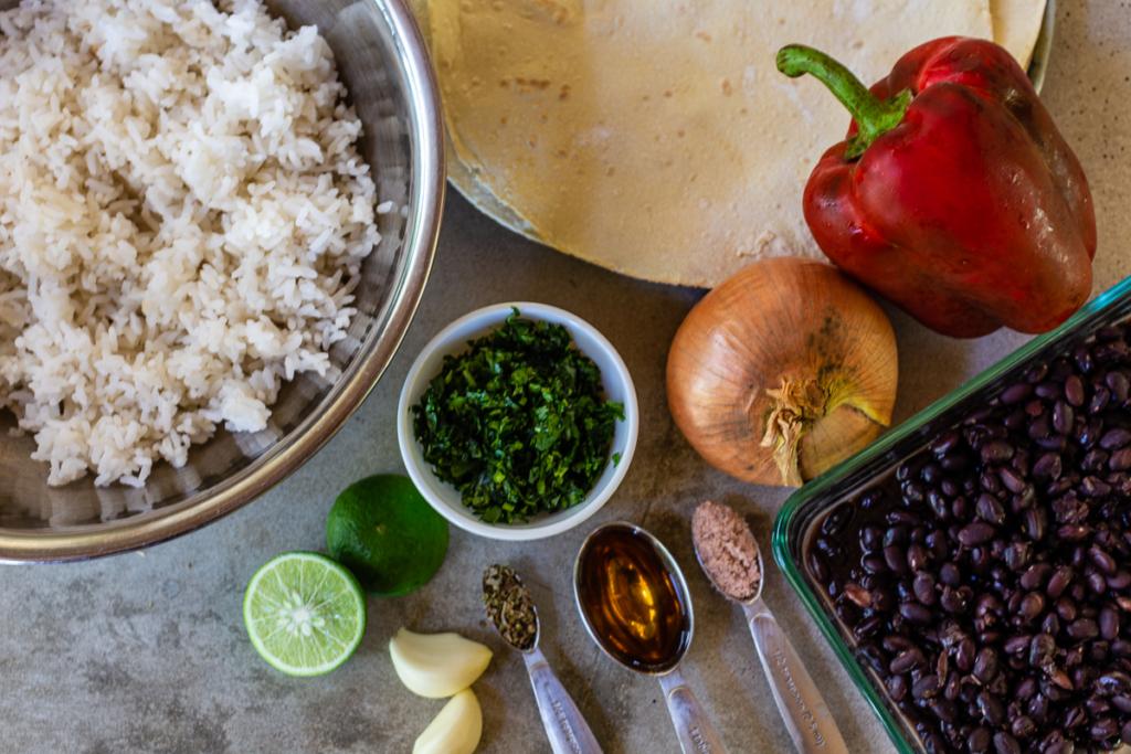 Black Bean Burrito Recipe Ingredients