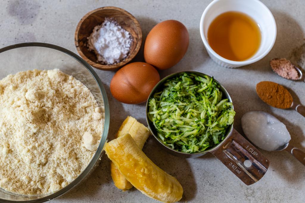 Almond Flour Zucchini Bread Ingredients