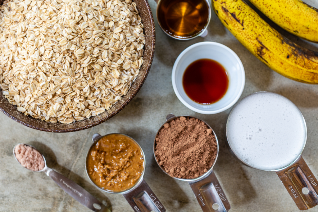 Baked Oatmeal with Bananas Ingredients