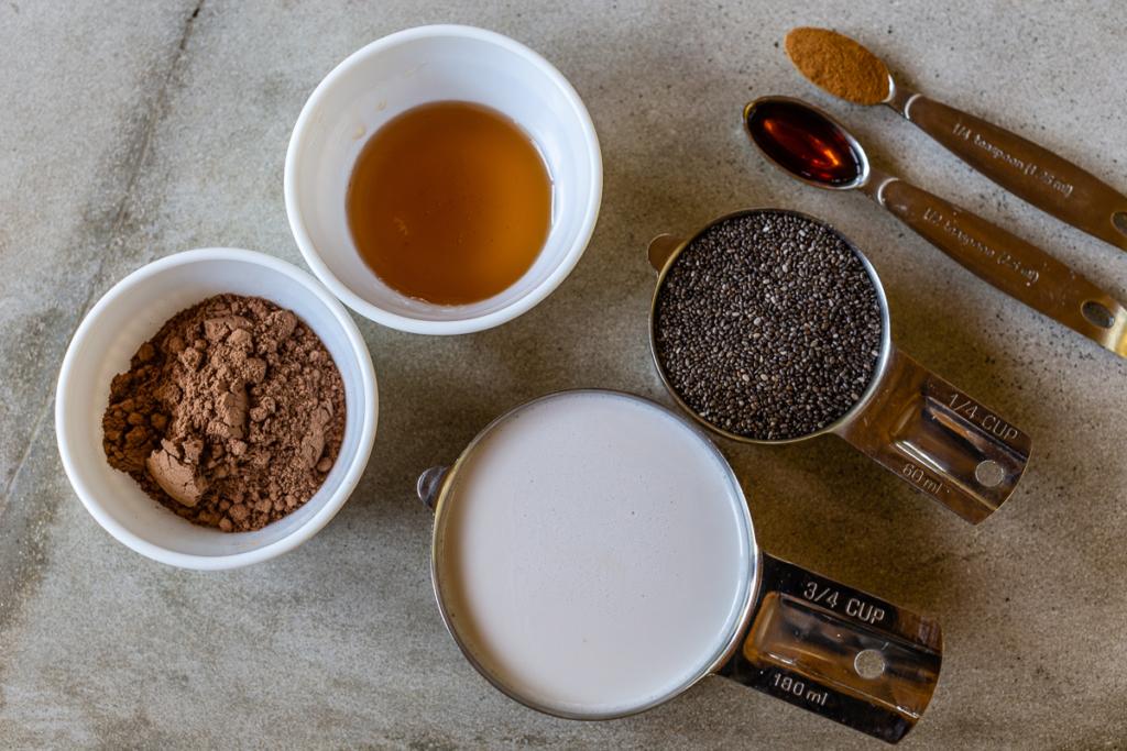Chia Pudding Coconut Milk Ingredients