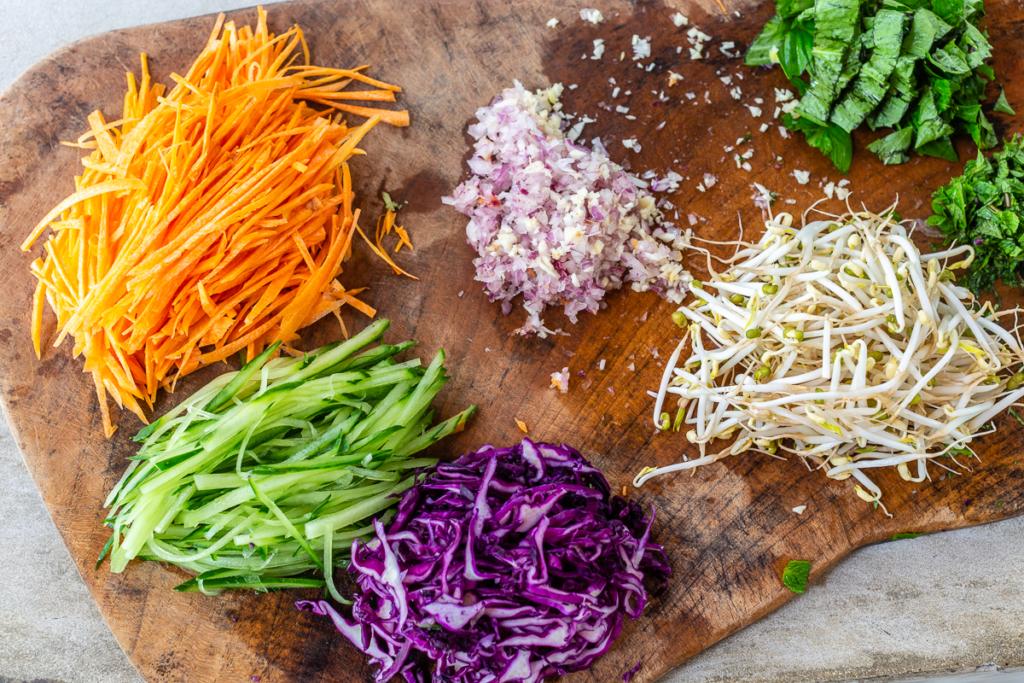 Recipe for Veggie Noodles Ingredients