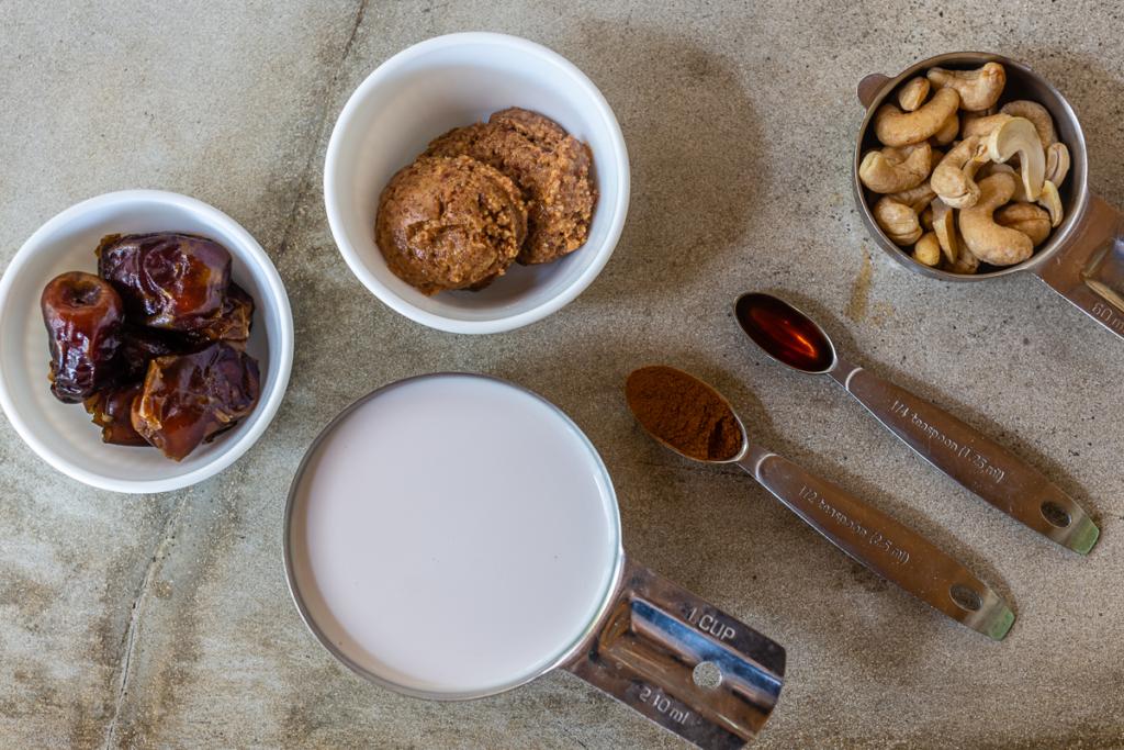Warm Almond Milk Drink Ingredients