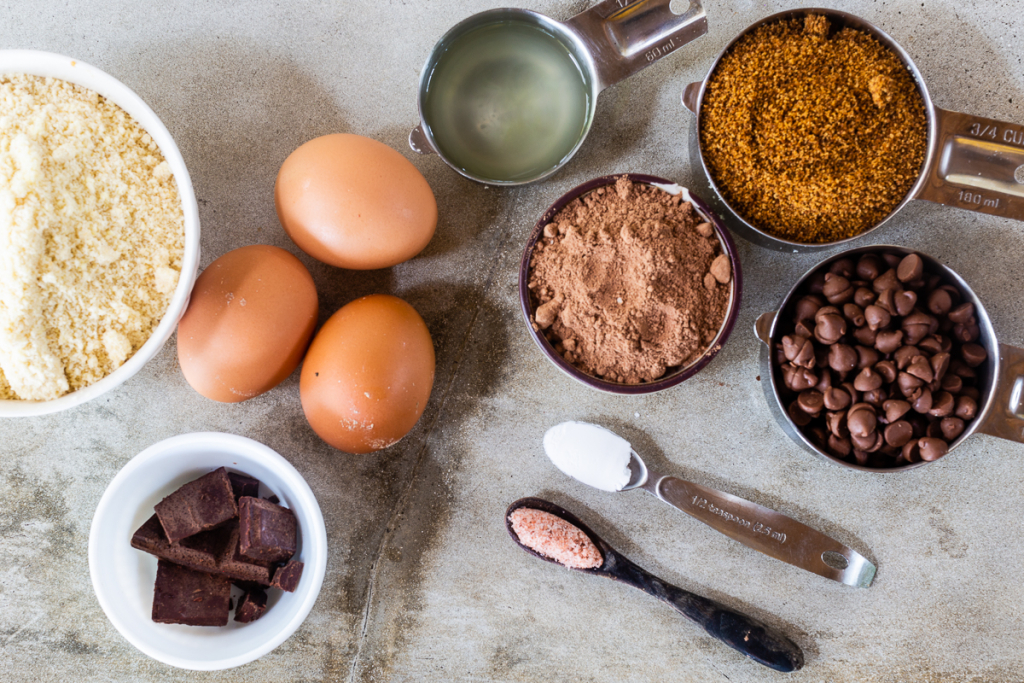 Brownies with Almond Flour Ingredients