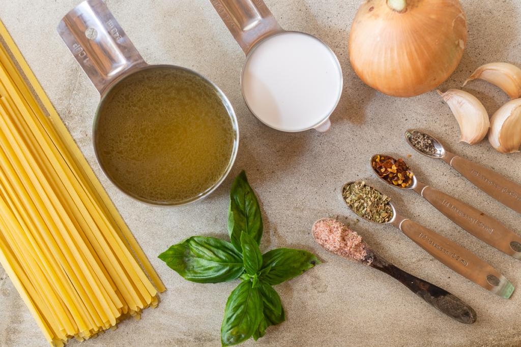 Recipe for Pasta Noodles Ingredients